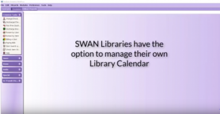library calendar graphic